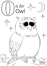letter o is for owl coloring page free printable coloring pages
