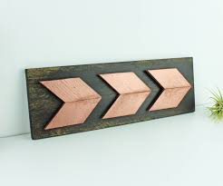 office wall art rose gold arrow wall art rustic office wall art rose gold office