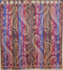 designer paisley luxury curtains 2 door window treatments jamawar