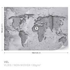 world map concrete texture wall mural photo wallpaper 2819dk world map concrete texture wall mural photo wallpaper