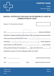 free medical certificate template for leave free u0026 premium templates