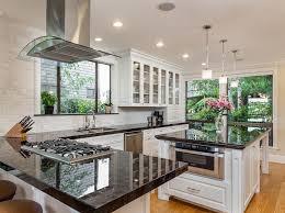 black granite kitchen island 50 gorgeous kitchen designs with islands designing idea
