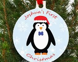 penguin ornament etsy