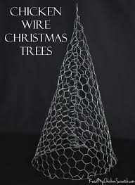 chicken wire christmas trees could paint white sparkly and