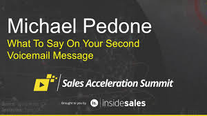 michael pedone what to say on your second voicemail message