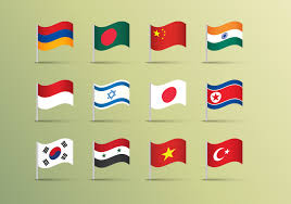 Flag Graphics Asian Flags Illustrations Vector Download Free Vector Art Stock