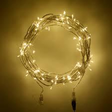 warm white led twinkle lights guirlande lumineuse raccordable 100 led blanc chaud sdb