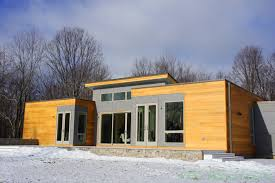 PHOTOS Blu Homes Opens East Coasts First Michelle Kaufmann - Modern design prefab homes