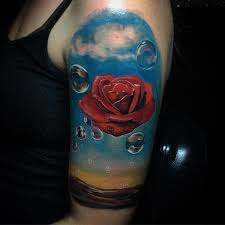 rose meditative by salvador dali sleeve best tattoo design ideas