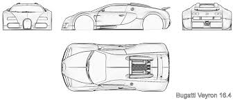 bugatti car drawing tutorials3d com blueprints bugatti veyron 16 4