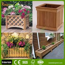 eco friendly high quality flower box wood planter boxes garden