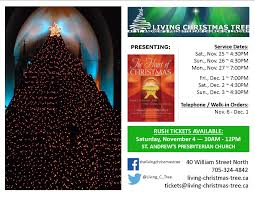 the living christmas tree at st andrew u0027s ticket day