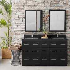 60 u201d lassen eco friendly double bathroom vanity set with ceramic