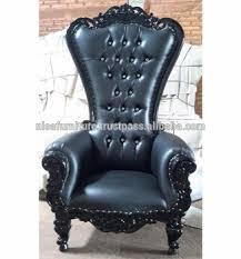 King Chair Rental Cheap French Black Baroque High Back King Throne Chair Rental
