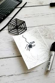 diy 3d spider with free spider web template momdot