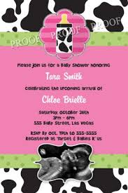 baby cow print baby shower invitations