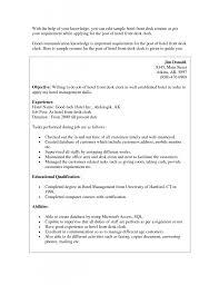 Help Desk Resume Examples by Resume Hotel Front Desk Resume