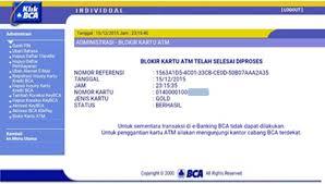 Klikbca Individual Bca New Way To Block Your Atm Bca Card