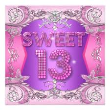 fun girls 13th birthday invitations u0026 announcements zazzle co nz