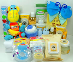 new care package new baby gift basket contents used with decorated moses