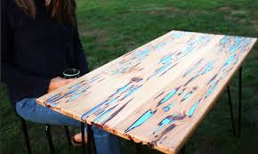 how to make a stunning wooden table with glow in the dark resin
