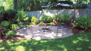 Landscaping Ideas Small Backyard by Fascinating Stone Details And High Trees In Minimalist Backyard