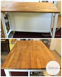 diy ikea hack kitchen island tutorial in