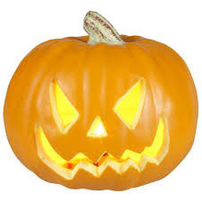 Halloween Lighted Pumpkin Decorations by Home Accents Holiday 9 In Pre Lit Blow Mold Scary Jack O Lantern