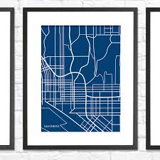 San Diego City Map by San Diego City Map Black Jennasue Maps Touch Of Modern