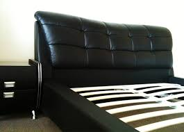 Black Leather Bedroom Furniture by Black Leather Queen Size Bed Bedroom Furniture