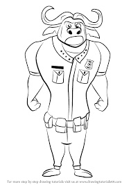 learn how to draw chief bogo from zootopia zootopia step by step