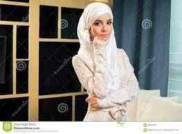 femme musulmane mariage femme musulmane dans la robe de mariage photo stock image