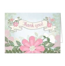 southern whimsical floral thank you cards at artistically invited