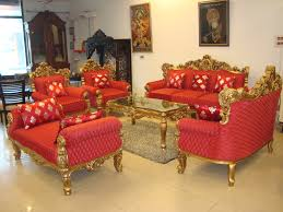 Living Room With Red Sofa by Decorating Traditional Living Room Design With Elegant Red Sofa