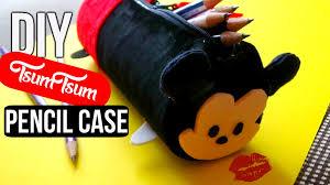 diy mickey mouse tsum tsum plush pencil case sew no sew disney