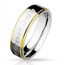 mm forever feliratos nemesacél karikagyűrű