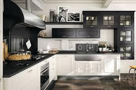 mod鑞e de cuisine am駻icaine modele cuisine noir et blanc newsindo co
