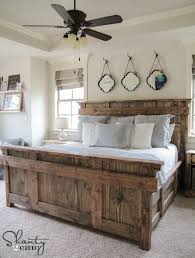 Farmhouse Bed Frame Plans Best 25 Diy King Bed Frame Ideas On Pinterest Size Regarding New