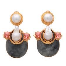 outhouse earrings solitude of the moon earrings desoir designer jewellery uk