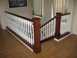 Oak Banister Stained Oak Handrail With White Spindles And Solid Oak Ste U2026 Flickr
