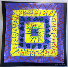 art is basic art teacher blog complementary color quilt paintings
