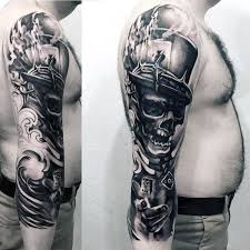 50 3d sleeve tattoos for three dimensional design ideas