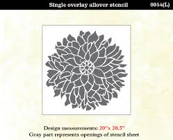 28 large flower wall stencils best room stencils products