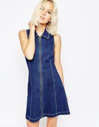 denim dresses for fall popsugar fashion