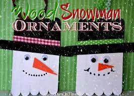 wood snowman ornaments craft