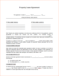 6 free lease agreement template wordreport template document