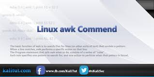 pattern matching using awk exles linux awk command kalitut tutorial