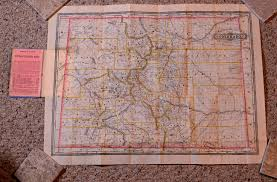 Colorado Road Map Colorado Maps Old Scarce And Antique Mt Gothic Tomes And Reliquary