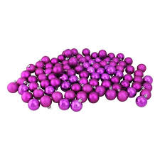 60ct shiny pink magenta shatterproof ornaments 2 5