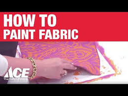 how to paint fabric ace hardware youtube